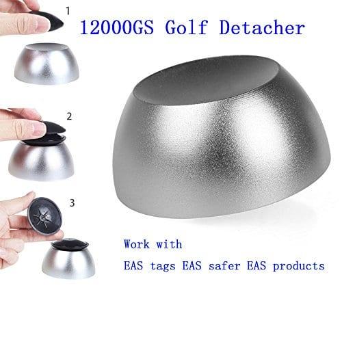 Bestwll Golf Detacher sécurité magnétique Tag Remover Aimant d'intensité Tag unlocker Opener Anti-vol Système EAS, Convient pour tous les RF dur Balises