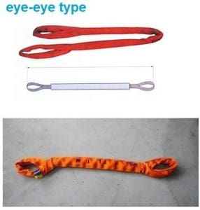 Gowe 80tx5m — 40m 6: 1haute résistance Eye-eye Soft Round Sling industrielle levage Sling Sangle de fibre de polyester Arbre en verre Auto Longueur: 7M