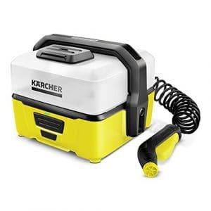Kärcher OC 3Mobile Outdoor Cleaner, impression nettoyant avec batterie d'ion de lithium et réservoir d'eau pour mobile, 1.680-000.0