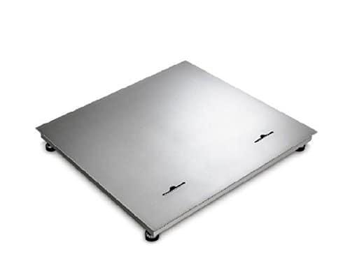 wägebrücke en acier inoxydable 1500x 1250x 110mm: max 3000kg: E = 1000g: D = 1000g: