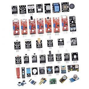 Sharplace Kit Modules Détecteur température humidité Démarrage Pour Arduino 45 en 1 Bricolage