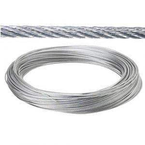 Wolfpack 1120003-4 mm câble 100 m Galvanisé (Rouleau sans relief)