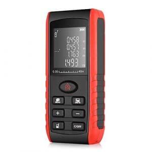 Télémètre laser 40m Inlife multimètre numérique,appareil de mesure avec écart maximum 2mm,Support Superficie Volumétrie