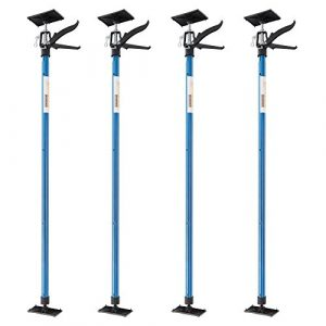 Arebos Etai télescopique support de plafond / capacité de charge de jusqu'à 30 kg par support / longueur 115 – 290 cm (4, Bleu)