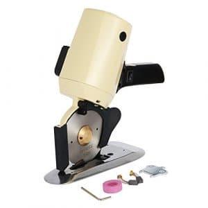 Vogvigo Coupeur Rotatoire de Tissu Électrique Machine de 4″ (100mm), Ciseaux Électriques Découpeuse de Tissu pour le Piquage et la Couture – 220V