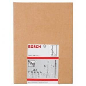 Bosch 2607000744 Set de fixation 27 pièces béton 15 mm Set de fixation 27 pièces Version spéciale pour béton roche dure