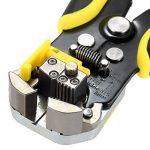 Meterk Pince à Sertir et à Dénuder Outil 0.14-6 mm² réglable Gamme de sertissage avec en acier carbone + Alliage (MK06)