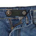 Naler 5 Pièces Élastiques Lingerie extendeurs Extension bretelles Élastique Extension de Taille Extension de Grossesse Bunder Jeans Noir Soutiens Gorge Attaches Gorge