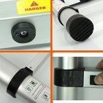 QITAO Échelle télescopique de 3.2M / aluminium portatif télescopique d'échelle d'extension pour le bureau à la maison de Loft, EN131 certifié, charge de 330lbs