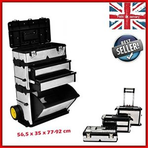 Generic * * Box Trave Voyage Grande BO en métal Garage Tal Garage ST Coque Organiseur Roues GE Coque rigide mécanique Tool box Torage Storage Hard
