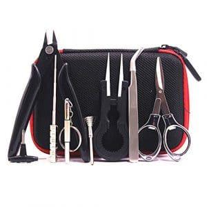 Kit DIY 8 Pcs Coil Jig, Kit de Cigarette électronique , Pince Céramique, Ensemble bobine, Pince Anti-statique,Kit d'outils de Bricolage