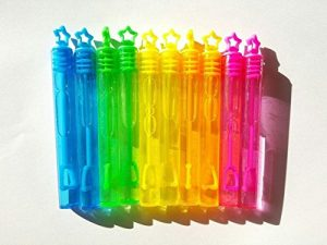 GO Believe 10Mini bulles Wand Neon Rainbow étoile de fête pour enfants anniversaire Lot de remplissage