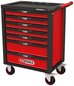 KS Tools racingline Noir/Rouge Atelier Chariot avec 7tiroirs et outils 511Premium