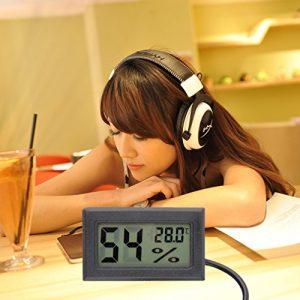 Mini Digital LCD Thermomètre Hygromètre humidité Température Mètre Intérieur