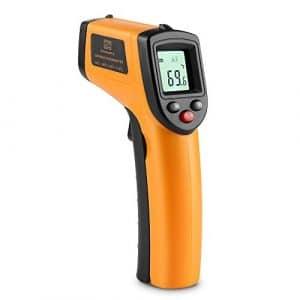 Zanmax Thermomètre Infrarouge, Thermomètre Infrarouge Laser IR sans Contact avec Ecran LCD, -50 ℃ -380 ℃, PistoletTempérature avec Indication de Pile Faible [Pile AAA non incluse]