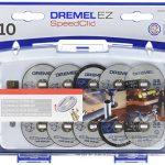 Dremel S690 Jeu de 10 disques à tronçonner adaptateur EZ speedclic