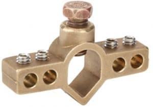 Mighty-bond Igbc-063Conversion Sol Tige pont Clamp, Bronze, Vis en acier inoxydable, 6,8cm, 1,3cm, 1,6cm, 0,7cm (lot de 25)
