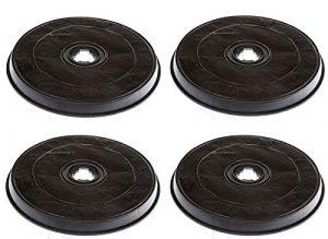 Ricel Sud.It F 38 6093043– 4x Filtres au charbon actif pour hotte Faber Elica h 26,5mm ⌀ 23,2