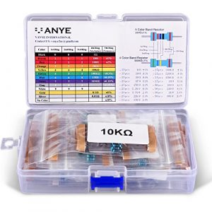 VANYE [525 Pièces] Résistances Électroniques Kit de Resistor Assortiment 17 Values de 0 Ohm-1M Ohm 1% avec Boîte en Plastique pour Arduino et Projet Expérimental