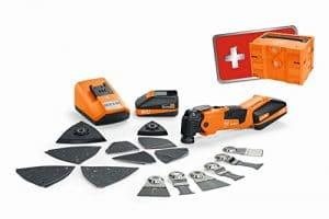 Fein 71292264000oszillierer/18qsl Multi Master–Multi Tool Set de ponçage Edition 2017, Li-Ion 18V, 2,5Ah, Oscillations: 185001/min