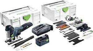 Festool Batterie Scie sauteuse pendulaire sans fil PSC 420Li, 18.00 voltsV