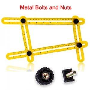 Règle multi angle template tool, VIDEN Instrument de mesure multifonction en ABS, gabarits instantané, Vis Acier, Idéal pour le carrelage, le parquet, les découpes et bien plus encore