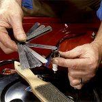 ✮GARANTIE A VIE✮-CZ Store®-Jauge d'epaisseur✮✮Marque Française✮✮-jeu de cales d'epaisseur 32 lames en acier inoxydable TAILLE 90 MM cale mecanique double unité de mesure pour moteur/bougie/soupapes