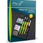 Pica 55010 Lot de crayons de charpentier pour bois, métal, céramique, verre, UVM. – Avec sac