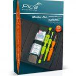 Pica 55030 Kit de stylo de marquage pour chambre, porte-mine pour bois, verre, pneus, carrelage UVM. – Avec sac