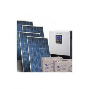 PuntoEnergia Italia – Kit Solaire Maison Pro 1Kw 24V Photovoltaique Onduleur 3000W Batteries 110Ah – KCS-1000P-24-3000-B110-AVF