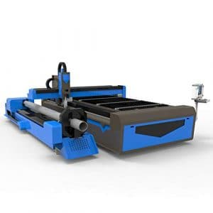 DIHORSE Metal Sheet and Pipe Fiber Laser Cutting Machine 1000w High Accuracy for 5mm SS and 10mm CS with 165mm Rotary