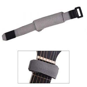 HATCHMATIC Guitare Cordes Mute Muter chantourner Fretboard muting normal 6 cordes guitares électriques: Gris