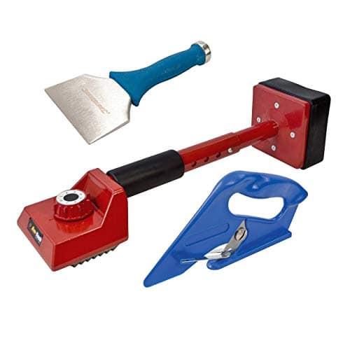 Kit d'outils de Montage de Tapis 3 pièces – genouillère, traversin de 100 mm et Coupe-Tapis