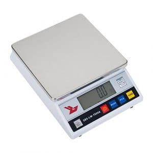 Steinberg Balance de Précision Cuisine Professionnelle SBS-LW-7500A (7.500g/0,1g, surface de pesée 18x18cm, 26x8x18cm, temps de chauffe 3 min)