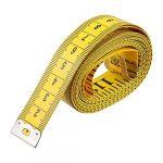 Wonque 3m/299,7cm doux ruban à coudre ruban adhésif en fibre de verre ruban à mesurer 1pcs Jaune