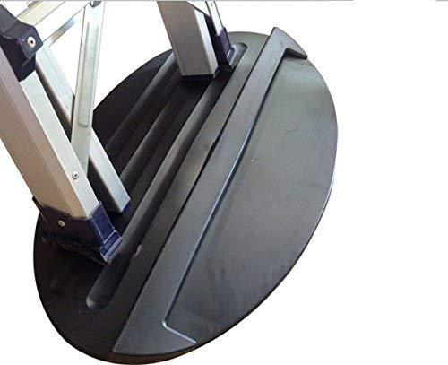 tcatec Tapis de butée antidérapant en caoutchouc pour échelle Noir