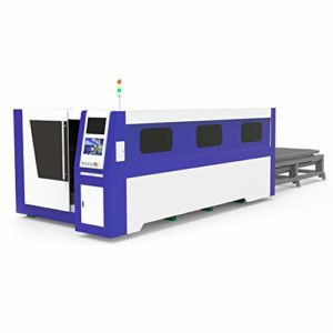 DIHORSE 1000W Fiber Laser Cutting Machine for Metal Plate with 1500 * 3000mm Working Size Welding Lathe Bed with Exchange Platform and Big Cover