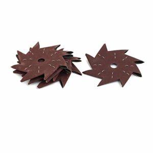 4″ 320 grains, en forme roue polissage verre abrasif octogonale 5pcs Outil