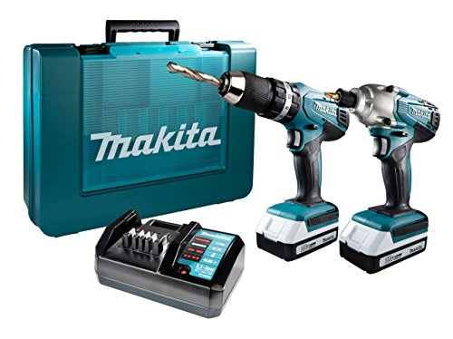 Makita DK18015X1 Perceuse visseuse à percussion 2 vitesses, 18 V, Bleu