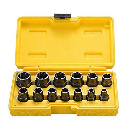 Coffret de 13 extracteur d'écrous, douille pour extracteur de Boulon endommagés, ensemble d'outils pour retirer les boulons
