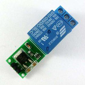 HoganeyVan 12V 1CH Bascule Module de relais à verrouillage Commutateur bistable à verrouillage automatique Carte de déclenchement d'impulsion faible pour Arduino Maison intelligente Moteur à LED
