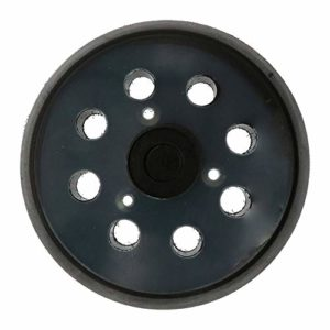 Tampon de ponçage de sauvegarde, 5 pouces, plaquette de support pour ponceuse à boucles et à crochets pour accessoires électriques pour meuleuse – noir