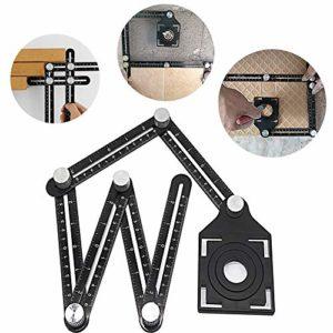 HTDirect Règles professionnelles multi-angles Outils de mesure de règles pliantes professionnelles avec positionnement de trou pour bricoleurs Constructeurs de bricolage Constructeurs
