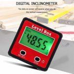 Wallfire Inclinomètre numérique 2 Touches Level Level Bevel Gauge Meter Bevel