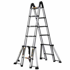 ZAIHW Télescopage Une échelle de Cadre échelles Extension 16,5 Ft Aluminium 330 Livres Capacité