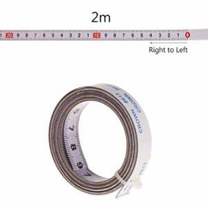 Ruban de mesure autocollant 1 m / 2 m / 3 m / 5 m / 13 mm de large, à droite à gauche, à droite, au milieu des deux côtés.