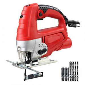 1080W Jigsaw, Laser Guide 6 vitesse variable électrique scie en métal Règle Jigsaw Outils électriques avec 10 lames Pièces