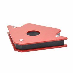 25LB Localisation de soudure Aimant puissant Support magnétique de soudure 3 Angle de flèche Soudeur Positionneur Outil électrique Accessoires-Rouge