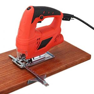 710W Jigsaw, 6 à vitesse variable électrique Scie avec 10 Pièces Lames de scie sauteuse multifonctions Scies électriques pour outils électriques Travail du bois