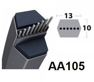AA105 – Courroie Tondeuse Hexagonal